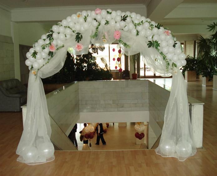 Как из шаров сделать свадебную арку своими руками 158